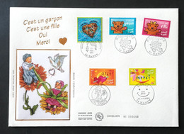 Enveloppe FDC Grand Format 2001 - NAISSANCE - ANCY - 2000-2009
