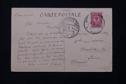 RUSSIE - Affranchissement Aigle 4k Rouge Sur Carte Postale En 1914 Pour La France - L 78913 - Storia Postale