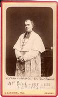 Photographie Ancienne Par Cardinal à Vannes, Mgr Bécel, évêque De Vannes En 1866, Rare Cdv Ca 1875 - Ancianas (antes De 1900)