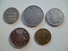 Lot De 5 Pièces De Monnaie MONACO Coins - Zonder Classificatie
