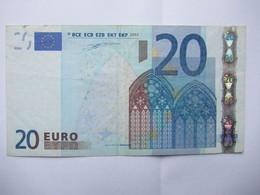 20 Euro-Schein Duisenberg, Y  Gebr., - 20 Euro