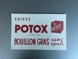 Buvard BOUILLON POTOX  Bouillon Gras Sans égal - Soups & Sauces