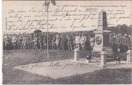 F4215 PETIT CROIX - INAUGURATION DU MONUMENT DE L'AVIATEUR PEGOUD - DISCOURS - HONNEURS MILITAIRES - DOS VERT - Monuments Aux Morts