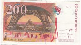 Billet - 200F - Gustave Eiffel - 200 F 1995-1999 ''Eiffel''