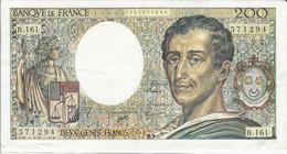 Billet - 200F - Montesquieu - 200 F 1981-1994 ''Montesquieu''