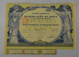 Bourreliers De Paris Et De La Banlieue, Siege Social à Paris - Textil