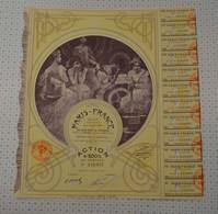 Tres Déco Paris France, Statuts Et Siege Social à Paris, Illustrée Par Mucha, Action Jaune De 1927 - Textil