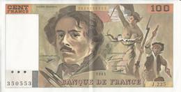 Billet - 100F - Delacroix - 100 F 1978-1995 ''Delacroix''