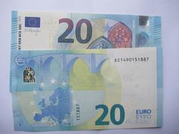 20 Euro-Schein EC Unc.Draghi - 20 Euro