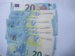 20 Euro-Schein RA Unc.Draghi. Preis Für Je, - 20 Euro