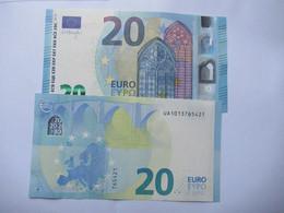 20 Euro-Schein UA Unc.Draghi, Preis Für Je, - 20 Euro