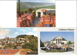 LOT DE 3 CPSM DE CHATEAU CHINON - Chateau Chinon
