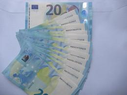 20 Euro-Schein RB Unc.Draghi, Preis Pro Schein - 20 Euro