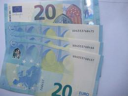 20 Euro-Schein UD Unc.Draghi, Preis Pro Schein - 20 Euro