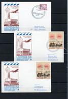 DDR, 1986, 3 Luftpostkarten Leipziger Herbstmesse, Kiew/Helsinki/Brüssel - Brieven