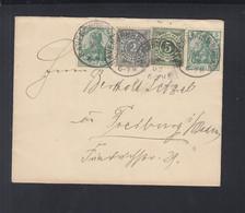 Dt. Reich Brief 1902 MiF Mit Württemberg - Wurttemberg