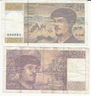 Billet - 20F - Claude Debussy - 20 F 1980-1997 ''Debussy''