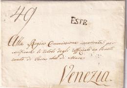 ESTE Per Venezia 8.12.1807 - 1. ...-1850 Prefilatelia
