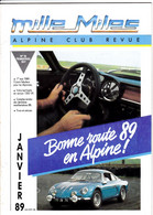 REVUE ALPINE CLUB  MILLE MILES  JANVIER 1989 - Auto/Motor