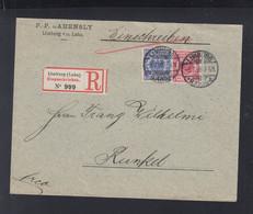 Dt. Reich R-Brief 1898 Limburg Nach Runkel - Cartas