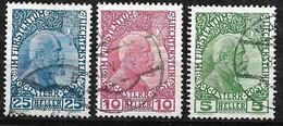 Liechstenstein  N° 1a  à  3a  Oblitérés    B/TB      Soldé  à Moins De 15 %            Le Moins Cher Du Site ! ! ! - Used Stamps