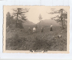10052.  Foto Vintage Gruppo Pra Catinat Pracatinat 1953 (fenestrelle Torino) - 10x7 - Plaatsen