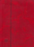 Grand Album Timbres Vide Rouge 32 Pages - Formato Grande, Fondo Negro