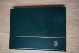 Grand Album Timbres Vide Vert 32 Pages - Formato Grande, Fondo Negro