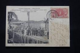 CÔTE D'IVOIRE - Affranchissement D'Abidjean Général Faidherbe Sur Carte Postale De Grand Bassam En 1906 - L 78966 - Briefe U. Dokumente