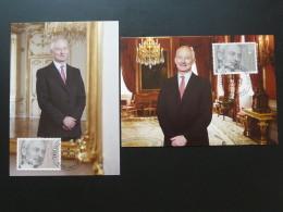Carte Maximum Card (x2) Roi King Hans Adam Liechtenstein 2015 Ref 394 - Maximumkaarten