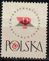 1958 Internationale Messe Poznan Mi 1057 / Fi  912 / Sc 818 / YT 934 Postfrisch / Neuf Sans Charniere / MNH - Nuovi
