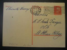 Deutsches Reich 1930- Antwort-Postkarte Gelaufen Von Firenze Nach Oberbayern - Lettres & Documents