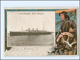 V1091/ Dampfer Fürst Bismarck    AK 1903 - Steamers
