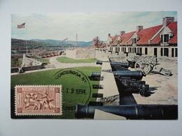 CARTE MAXIMUM CARD CIVIL FORT TICONDEROGA NEW YORKETATS-UNIS - Onafhankelijkheid USA