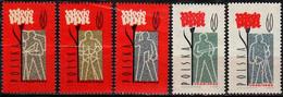 1962 Polnische Arbeiterpartei Mi 1289-93 / Fi  1144-8a / Sc 1041-5 / YT 1152-6 Postfrisch / Neuf Sans Charniere / MNH - Nuovi