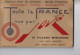 65 Chateau Fort De LOURDES Musee Pyreneen Village Miniature Carnet De 8 Cartes Postales La France Vue Par JOVE - Lourdes