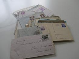 Österreich Belegeposten Ab Ca. 1890er - 1980er Jahre Insgesamt 110 Belege / Ganzsachen Viel Aus Dem Bedarf. Stöberposten - Collections (without Album)