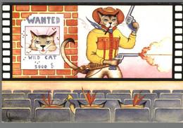 CPM Chat - Les Ciné Chats - Billy The Cat – Illustration De P Lobgeois - Geklede Dieren