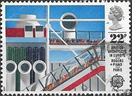 GREAT BRITAIN 1987 Europa. British Architects In Europe - 22p - Pompidou Centre, Paris FU - Oblitérés