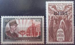 R2062/290 - 1951 - COLONIES FR. - ALGERIE - N°286 à 287 NEUFS* - Ongebruikt