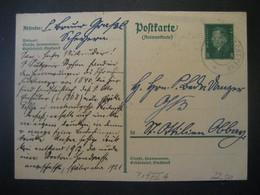 Deutsches Reich Ganzsache 1921- Postkarte Als Antwortkarte Gelaufen Von Scheyern Nach St. Ottilien - Entiers Postaux