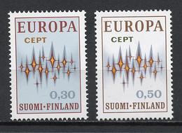 Europa CEPT 1972 Finlande - Finnland - Finland Y&T N°665 à 666 - Michel N°700 à 701 *** - 1972
