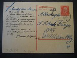 Deutsches Reich Ganzsache 1930- Tax-Postkarte Als Antwortkarte Gelaufen Von Amay Nach St. Ottilien - Entiers Postaux
