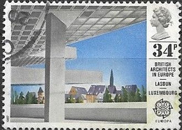 GREAT BRITAIN 1987 Europa. British Architects In Europe -  34p - European Investment Bank, Luxembourg FU - Oblitérés