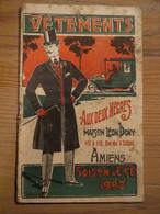 Amiens Maison Léon Dony 1907 Vêtements Hommes Pardessus Smoking Costume Communion - Artesanos