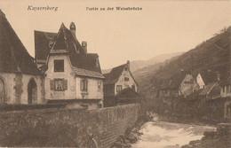 CARTE POSTALE ORIGINALE ANCIENNE : KAYSERSBERG PARTIE AN DER WEISSBRUCKE HAUT RHIN (68) - Autres Communes