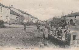 CPA:AINVELLE (88) ROUTE DE MOUT ANIMÉE - Other Municipalities