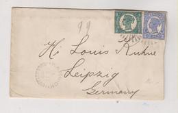 QUEENSLAND 1899 WARWICK Nice Cover To Germany - Briefe U. Dokumente