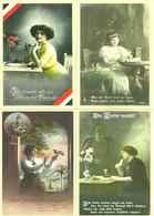 LOT 4 CARTES PAP VALIDITE MONDE HOMMAGE AUX COMBATTANTS ALLEMANDS / PHILAPOSTE - Documenti Della Posta
