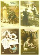 LOT 4 CARTES PAP VALIDITE MONDE HOMMAGE AUX COMBATTANTS FRANCAIS / PHILAPOSTE - Documenti Della Posta